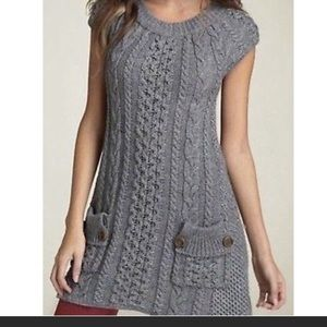 Free People Cable Knit Tunic/Dress